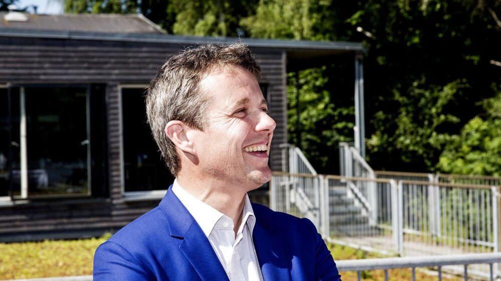 Kronprins Frederik deltager i et pressemøde mandag d. 19 juni 2017 på Bagsværd Rostadion.
