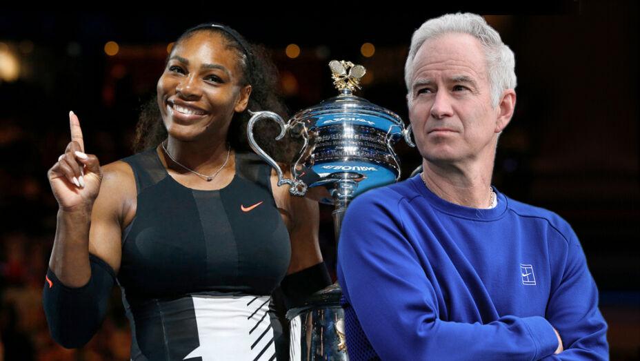 Den tidligere verdensetter, John McEnroe mener, at Serena Williams ville få det svært, hvis hun skulle spille mod mænd.