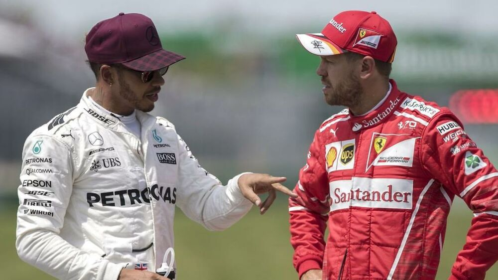 Lewis Hamilton (tv.) og Sebastian Vettels (th.) venskab bliver for alvor sat på prøve i disse dage.
