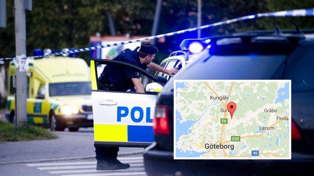En kvinde og tre små børn er fundet døde i en lejlighed i den lille svenske landsby Angered nær Göteborg. Arkivfotoet foroven er fra Stockholm.