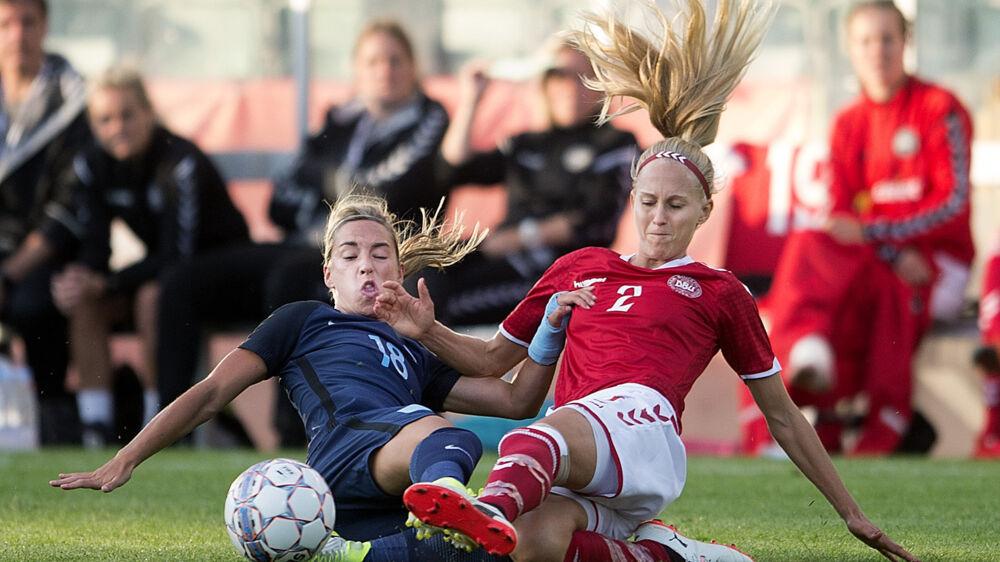 Line Røddik deltager i øjeblikket ved EM med det danske landshold. På klubplan repræsenterer hun FC Barcelona, hvor hun har kontraktudløb om et år. Scanpix/Liselotte Sabroe / Arkiv