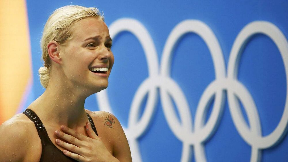 Pernille Blume efter sin OL-triumf i Rio (2016).