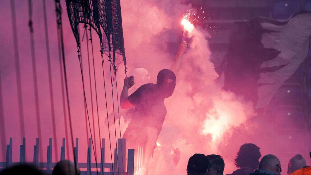 FCK har straffet mere end 100 tilskuere efter kampen mod Brøndby 6. august.