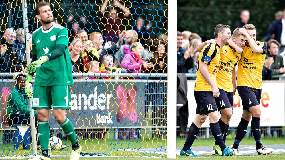 Hobro IK - Lyngby BK, Alka Superliga, DS-Arena, Hobro, 20.august: Hobros Pål Alexander Kirkevold har scoret til 2-0 (foto: Henning Bagger / Scanpix 2017)