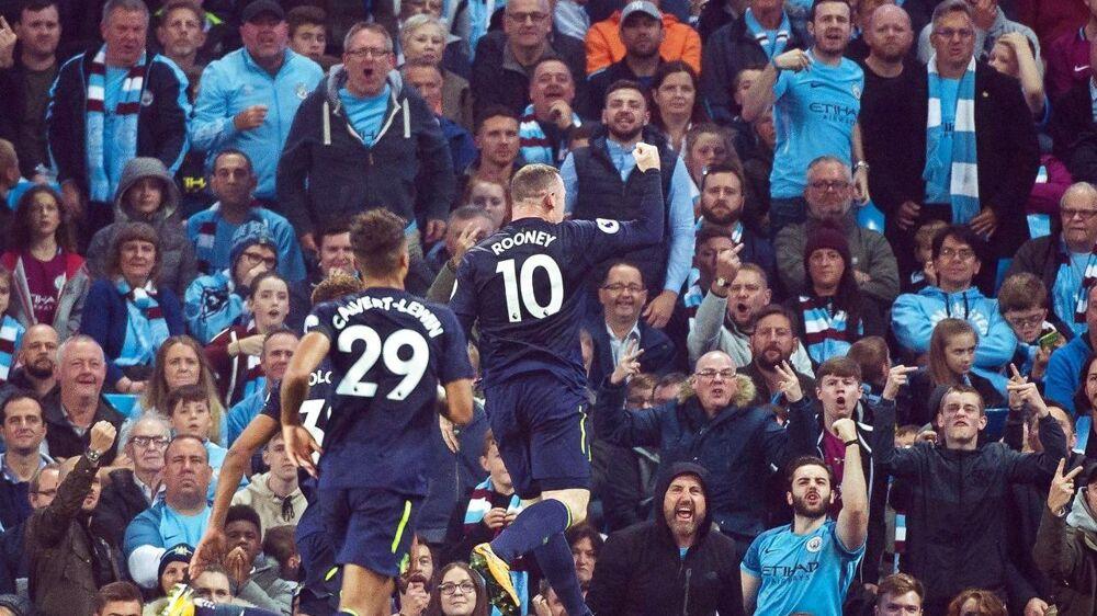 Wayne Rooney har scoret to gange siden sin hjemkomst til Everton, hvor karrieren begyndte.