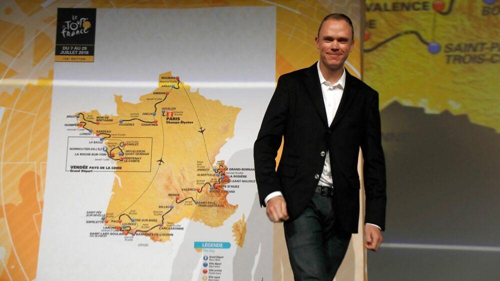 En del af næste års Tour de France-rute skal køres på brostenene ved Roubaix. Chris Froome (bill.) jokede med, at han ikke havde regnet med at skulle køre løbet Paris-Roubaix til næste år, men det kommer han altså på sin vis til alligevel på grund af brostensetapen.