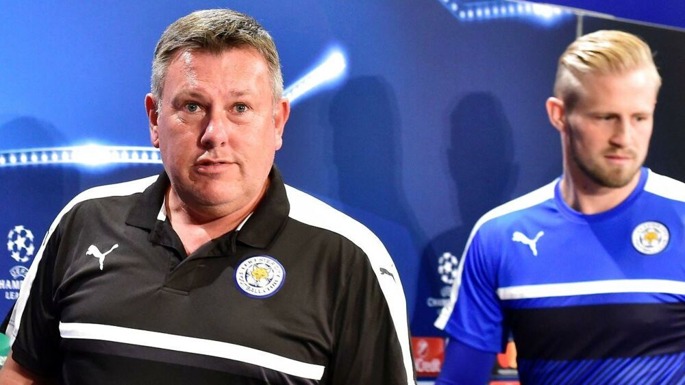 Kasper Schmeichel (th) skal have ny chef, da Leicester City har fået manager Craig Shakespeare (tv).