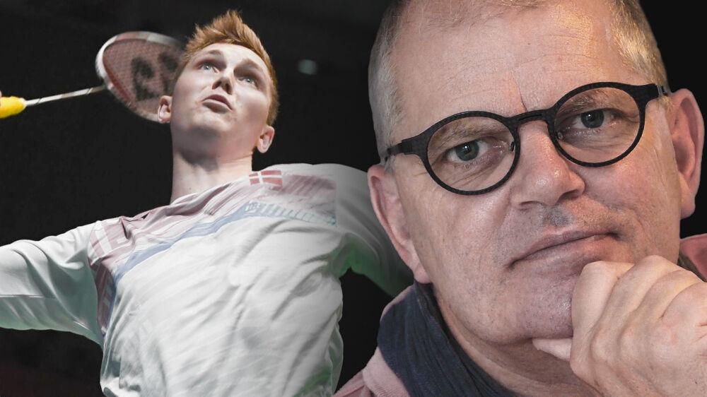 Henrik Axelsen (th.) er både far og manager på fuld tid for verdensmesteren Viktor Axelsen (tv.). Deres mål er at løfte dansk badminton fra at være en foreningssport til at blive en forretningssport.