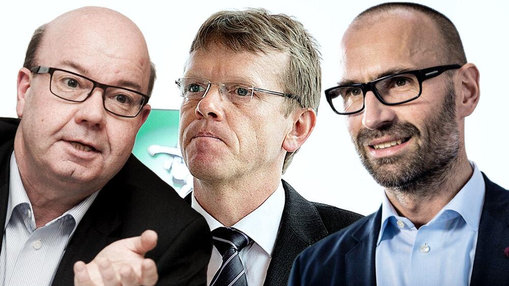 Hvor er I henne? BTs spotschef efterlyser DBU-formand Jesper Møller, Spillerforeningensboss Mads Øland og DBU-direktør Claus Bretton-Meyer.