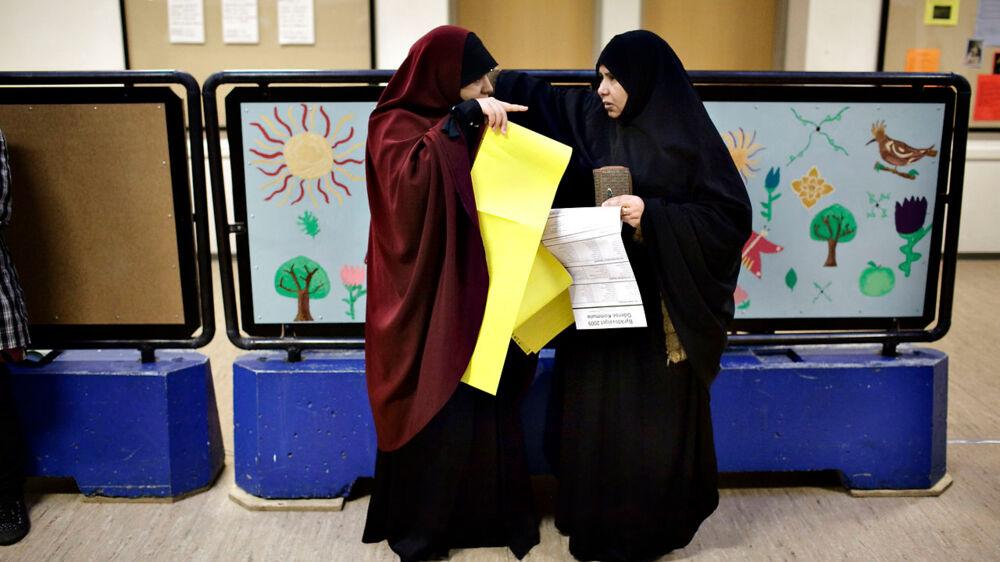 Billede fra Humlehaveskolen i Vollsmose, d. 17. november 2009 ved kommunalvalget.