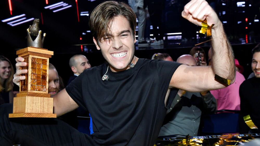 Benjamin Ingrosso celebrates winning the Swedish Melody Festival with his song Dance You Off in Stockholm, Sweden, March 10, 2018. Ingrosso will represent Sweden at the Eurovision Song Contest in Lisbon. Jonas Ekstromer/TT News Agency/via REUTERS ATTENTION EDITORS - THIS IMAGE WAS PROVIDED BY A THIRD PARTY. SWEDEN OUT.NO COMMERCIAL SALES.