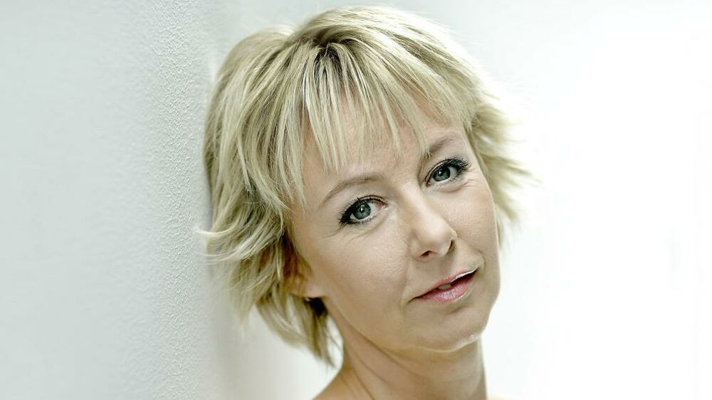 Puk Elgård støtter op om portrætmaleriet af grevinde Alexandra Foto: Agnete Schlichtkrull