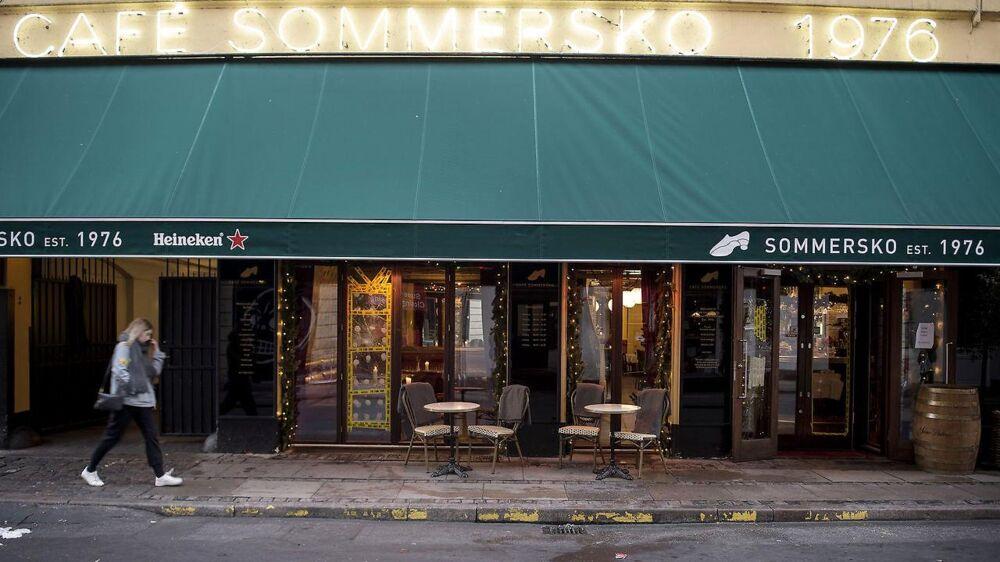 Cafe Sommerskos facade blev udsat for hærværk i weekenden