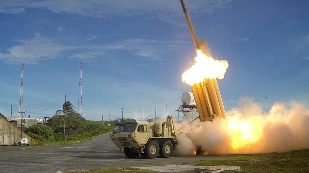 - Vi er meget imod udviklingen med USA's og Koreas opstilling af Thaad (antiballistisk missilforsvar, red.) i Korea, siger en talsmand i Kinas udenrigsministerium. Reuters/Handout . / Reuters