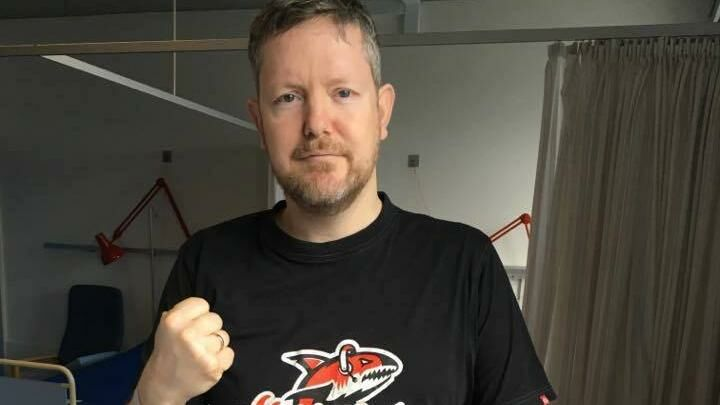 Billede af 41-årige Jens Pedersen på Odense Universitetshospital.