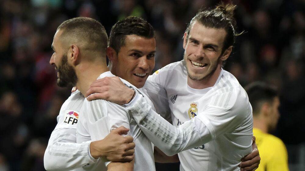Karim Benzema, Cristiano Ronaldo, Gareth Bale.
