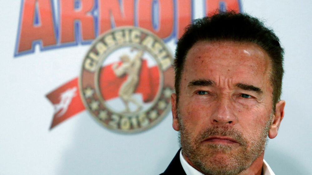 Actor and former professional bodybuilder Arnold Schwarzenegger attends a news conference in Hong Kong, China August 19, 2016, before inaugurating Arnold Classic Asia multi-sport festival on Saturday. REUTERS/Bobby Yip