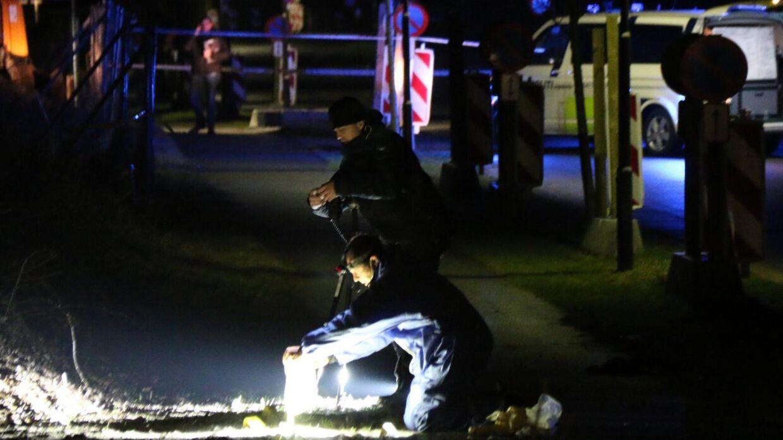 Politiet leder efter spor Foto: Mathias Øgendahl