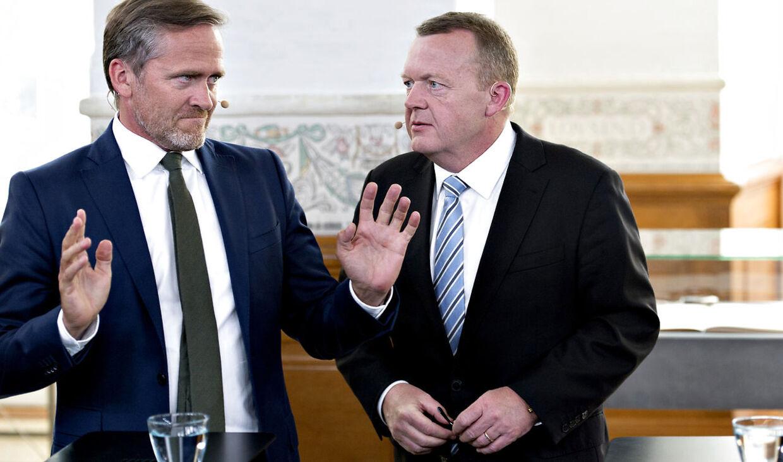 Anders Samuelsen (l) og Lars Løkkke Rasmussen(V), (Foto: Keld Navntoft/Scanpix 2015)