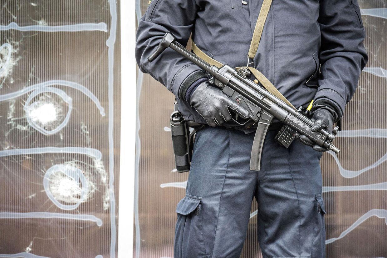 Politi ved Krudttønden i weekenden.