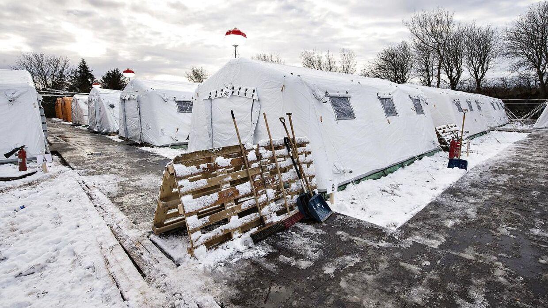 Arkivfoto fra teltlejren i Thisted.