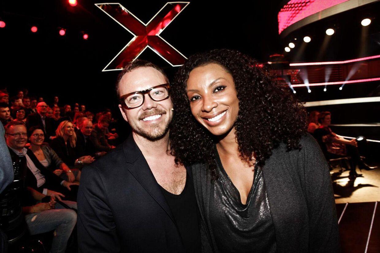 Her ses Charmayne 'Maxee' Maxwell med ægtemanden Carsten 'Soulschock' Schack, da han var dommer i det danske 'X Factor'.
