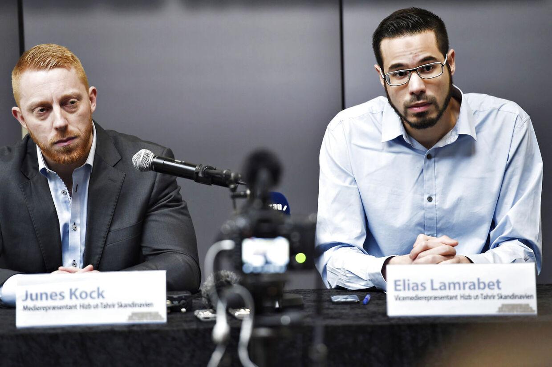 Junes Kock, medierepræsentant for Hizb ut-Tahrir i Skandinavien og Elias Lamrabet, vicemedierepræsentant for Hizb ut-Tahrir i Skandinavien.