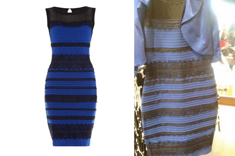 Er disse to kjoler den samme farve? Ja, siger bloggeren, der lagde billedet til højre op.