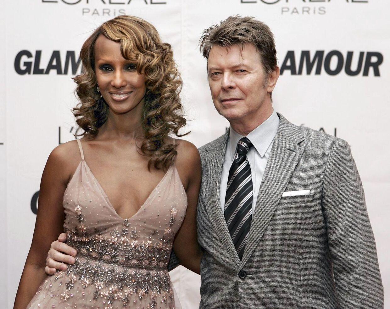 David Bowie og hustruen Iman betræder den røde løber i 2006.