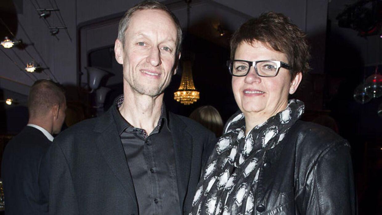 54-årige Ole Andersen stak af sted med juryens specialpris til Reality Awards 2016. Her ses han sammen med kæresten, Gitte Dahl.