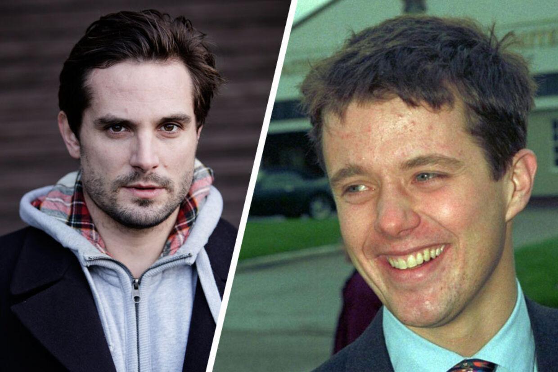 Filminstruktør Christian Tafdrup (tv.) angriber TV2 for at trække støtten til en film om Kronprins Frederiks (th.) unge år.