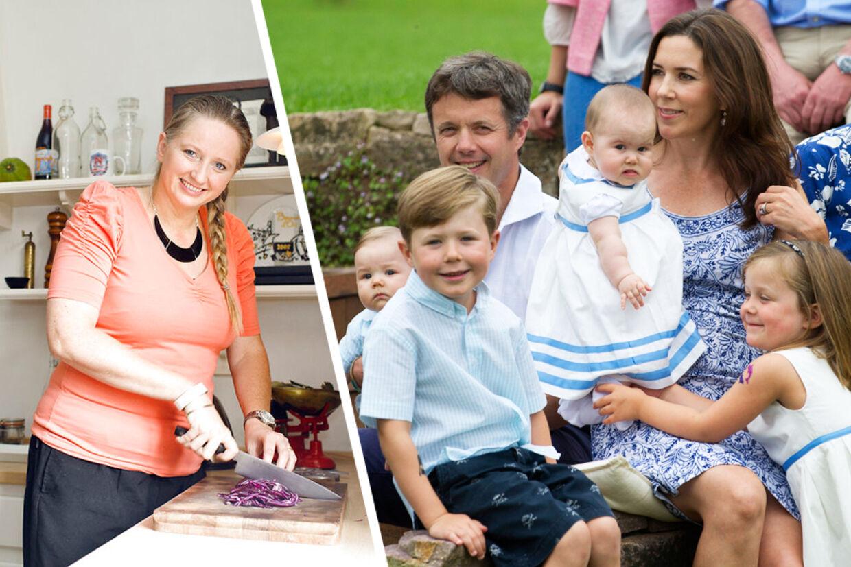 Da Mary og Frederik var på officielt besøg i Australien i november 2011, besøgte de Den Danske Klub i Melbourne, hvor Bente Grysbæk arbejder som kok i restauranten Dansk. Få dage efter besøgt trak Bente Grysbæk i det private arbejdstøj for at være kok for den kongelige familie under deres private ferie.