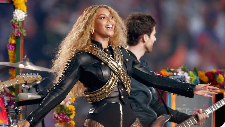 Beyoncé ved årets Super Bow.