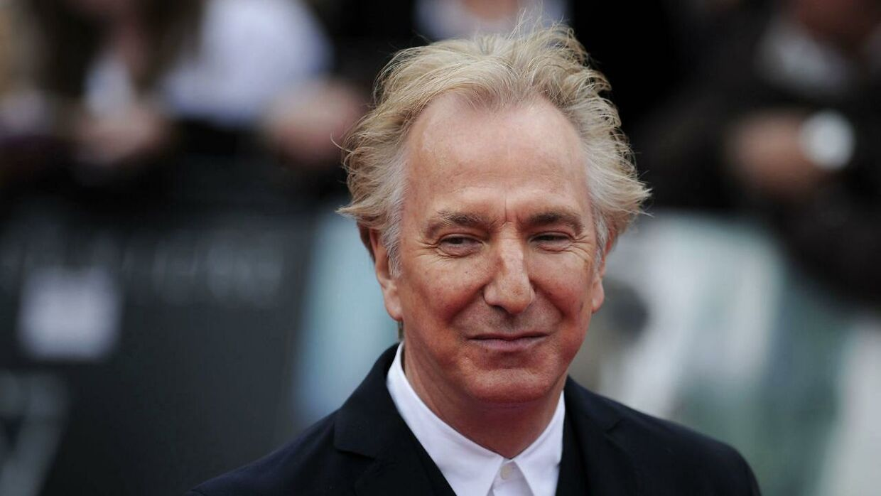 Alan Rickman til premieren på 'Harry Potter and the Deathly Hallows - Part 2' i London den 7. juli 2011.
