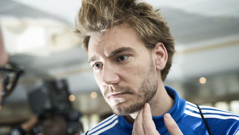 Nicklas Bendtner er ikke tilfreds med sin situation i Wolfsburg.