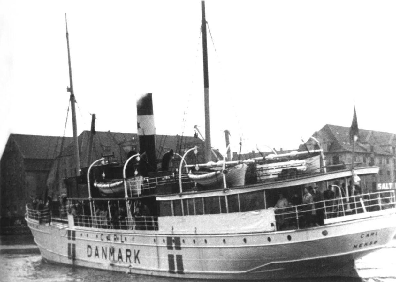 'Carl af Neksø' var en af de dampere, der blev brugt til at smugle illegale ud af Danmark.
