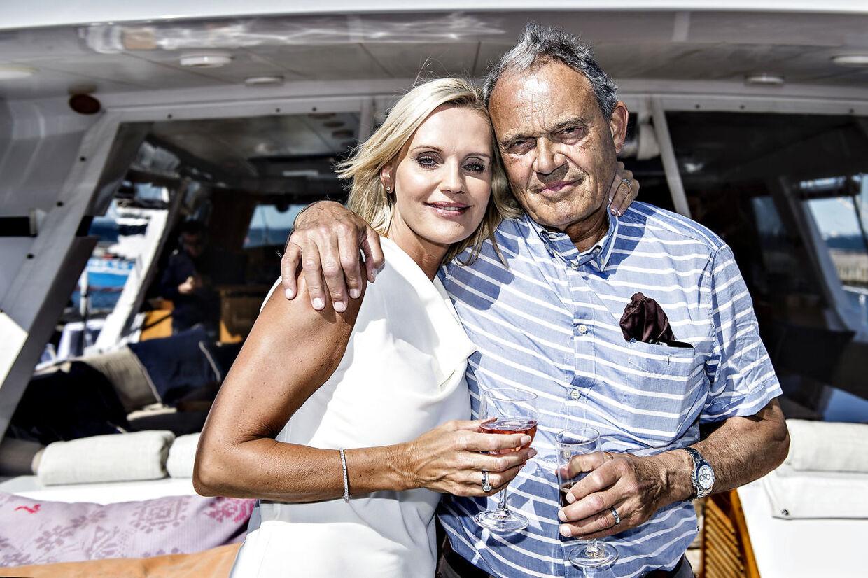 Milliardæren Karsten Ree sammen med hustruen Janni.