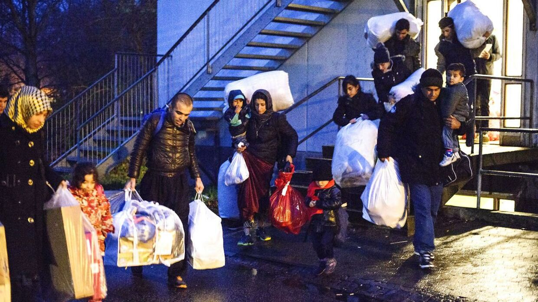 Asylansøgere på Auderød Asylcenter fem kilometer uden for Frederiksværk, der huser 401 beboere.