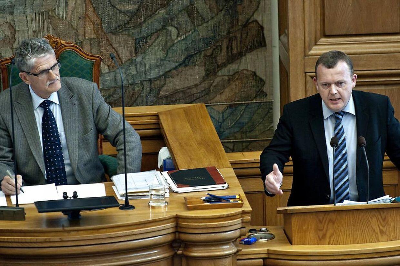 ARKIVFOTO. Lars Løkke Rasmussen kræver forklaring fra Mogens Lykketoft. (Foto: Keld Navntoft/Scanpix 2010)