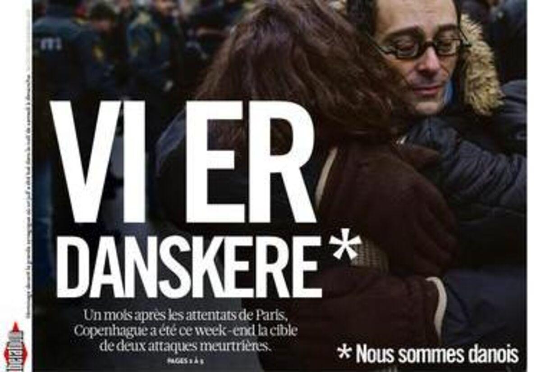 »Vi er danskere,« lyder forsiden af den franske avis Libération i morgen.