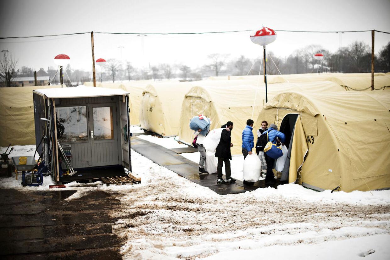 Flygtningelejr i Næstved.