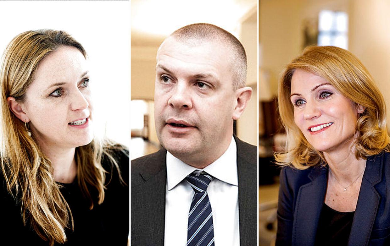 Helle Thorning, Bjarne Corydon og Karen Hækkerup er blandt de politikere, som har været en tur gennem »den gyldne svingdør«.