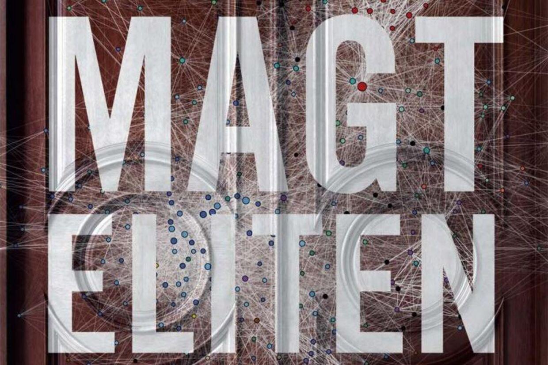 En del af omslaget til den nye bog 'Magteliten'. Klik videre fir at se hele omslaget.