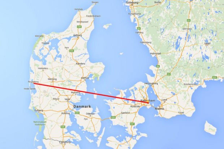 Syd for den røde linje fra Ringkøbing til København bliver det tøvejr, som allerede fredag besværliggør kælkning, mens der stadig vil være dejlig frostsne nord for linjen. Men kun i Nordjylland bliver det kælkevejr i weekenden.