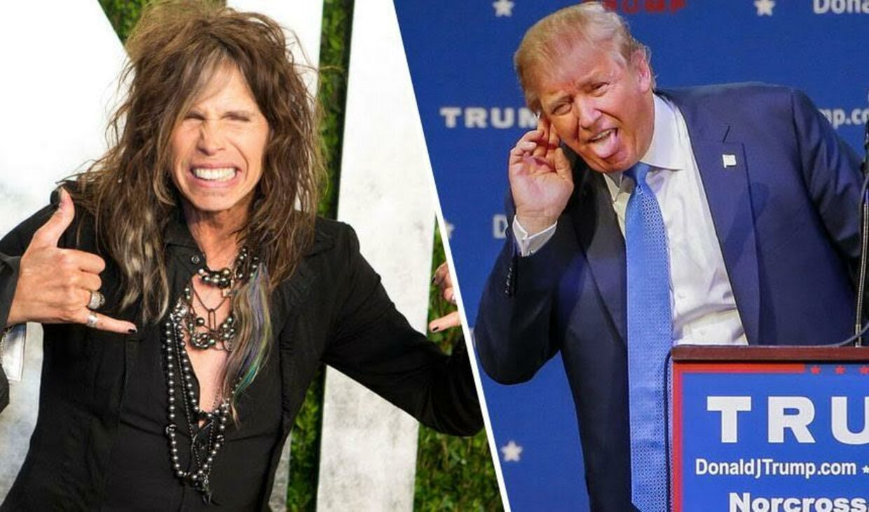Brug ikke min sang: Steven Tyler truer med at sagsøge Donald Trump.