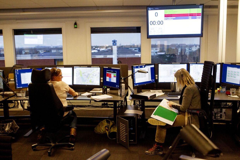 Den Præhospitale Virksomhed - Akutberedskabet Akutmedicinsk Kommunikationscenter hvor man blandt andet besvarer opkald på 112 og 1813 Sygeplejersker
