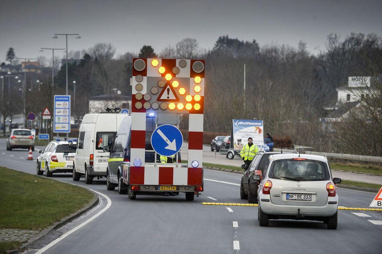 Grænsekontrol ved Kruså grænse 04.01.2015 Foto: Palle Peter Skov