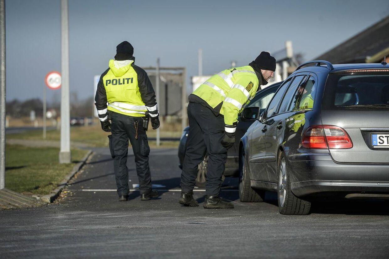 Arkivfoto: Rekordmange personer blev afvist ved den dansk-tyske grænse lørdag ©2016 Palle Peter Skov/Scanpix