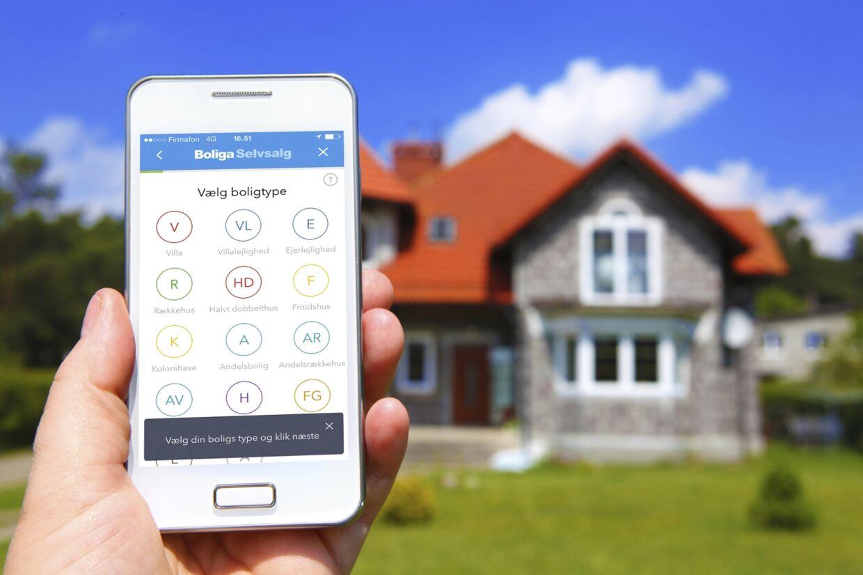 Nu kan du sælge din bolig via din smartphone med ganske få klik via Boligas selvsalgs-app