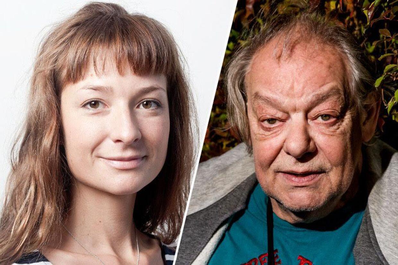 Radiovært på 'Det Næste Kapitel', Iben Zeuten, og musiker Stig Møller.